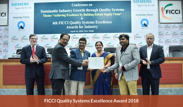 FICCI Quality Systems Excellence Award 2018
