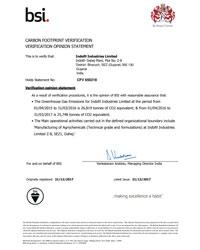 Carbon Foot Print Certificate