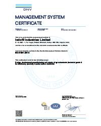 ISO 9001:2015 Certificate Indofil Dahej