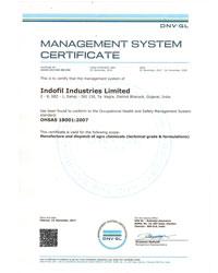 OHSAS 18001:2007 Certificate Indofil Dahej